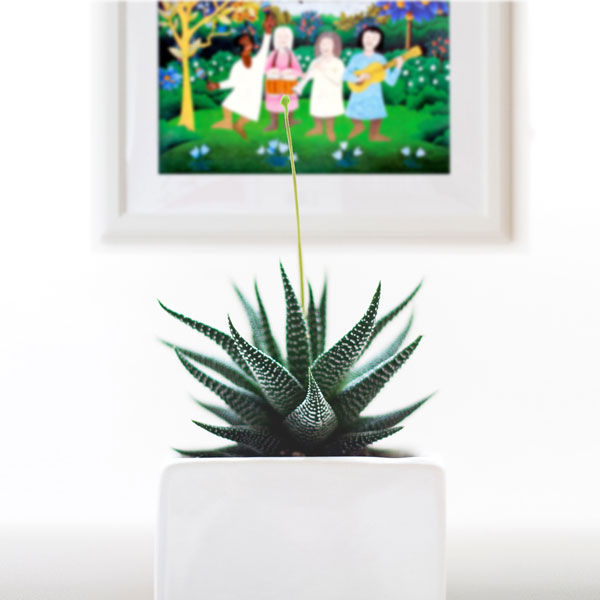 a framing suggestion in a home decore display