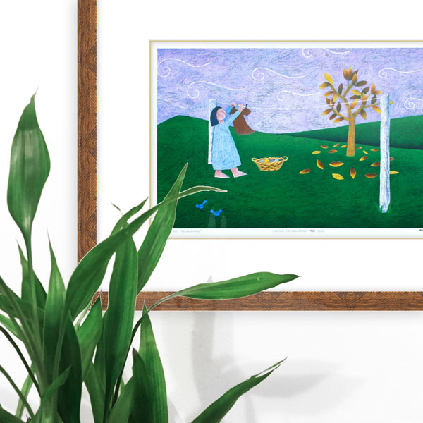 an image of the limited edition of a woman hanging washing in a home interior