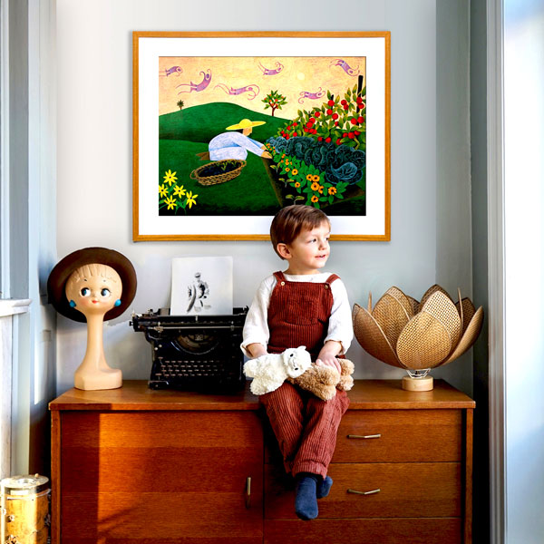 the limited edition print situated in a home environment