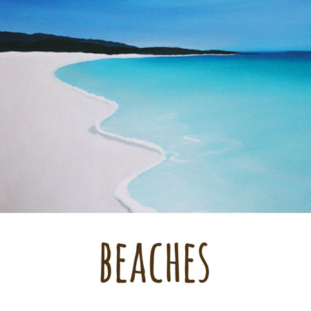 another of Mandy Evans Artists seascapes which shows the crystal blue waters and the headland of Dunsborough Western Australia