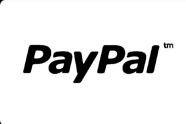 the black paypal text on a white background